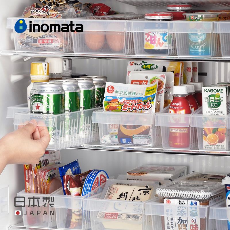 inomata日本進口冰箱收納盒廚房塑料家用零食調味料儲物盒置物籃