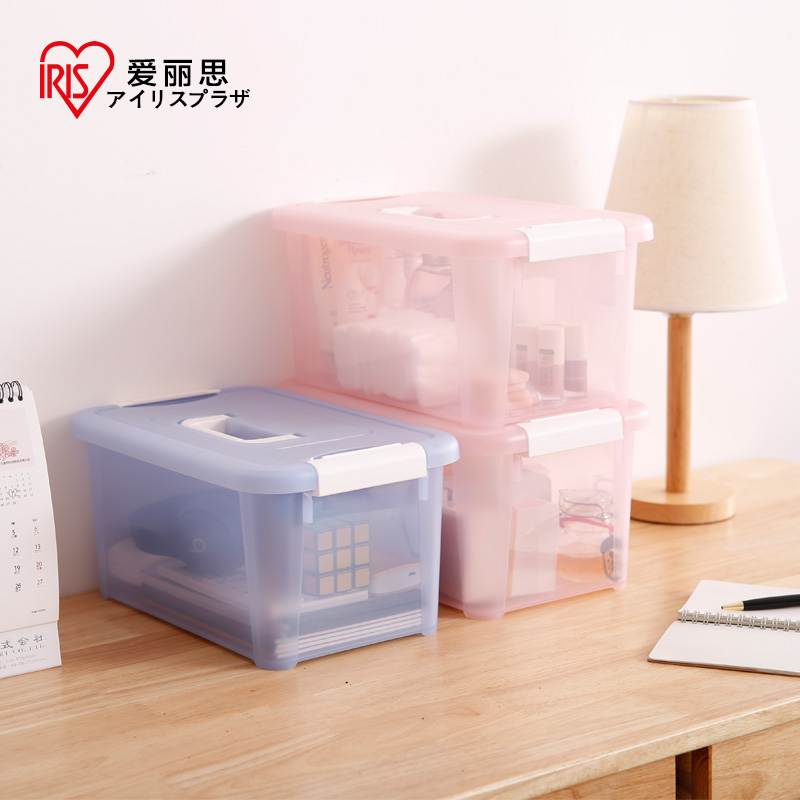 愛麗思IRIS 手提式藥箱小物塑料收納箱整理儲物箱 HKB-8/8升箱子