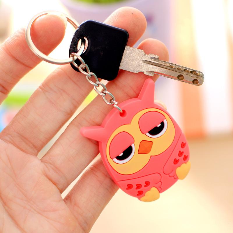 创意立体卡通软胶钥匙扣钥匙圈 可爱个性挂件汽车钥匙链挂饰礼物