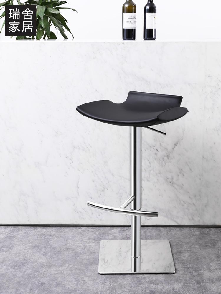 瑞舍北欧吧椅升降现代简约吧台凳子家用高脚凳轻奢餐厅酒吧高椅子