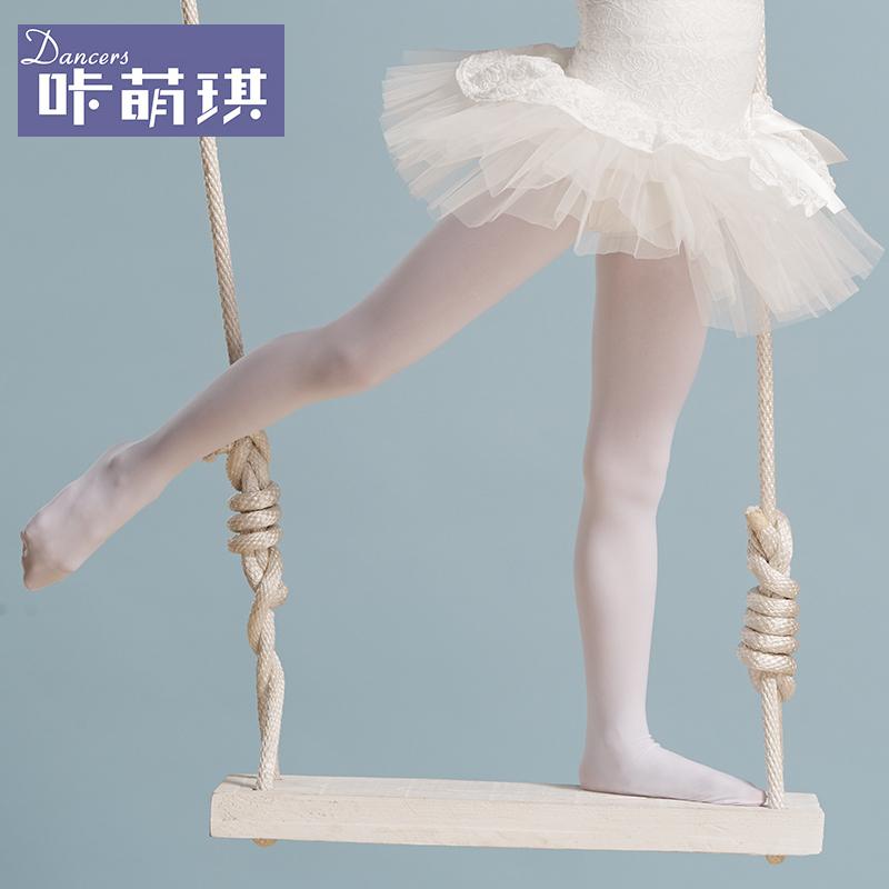儿童舞蹈袜 幼儿舞蹈袜女童连裤袜白色练功袜少儿拉丁舞芭蕾舞袜