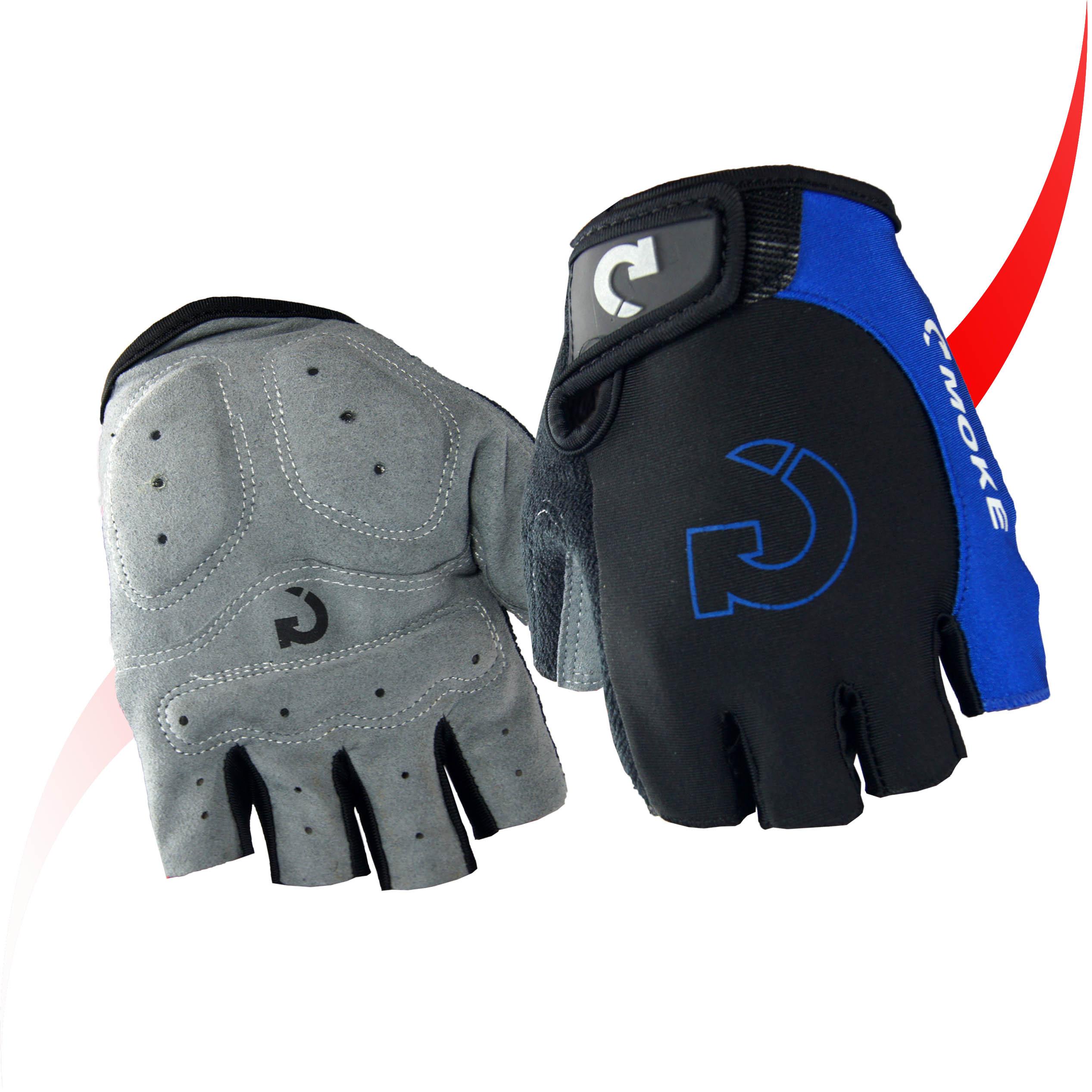moke莫克手套 自行車半指手套 騎行短指手套 騎行裝備自信車配件
