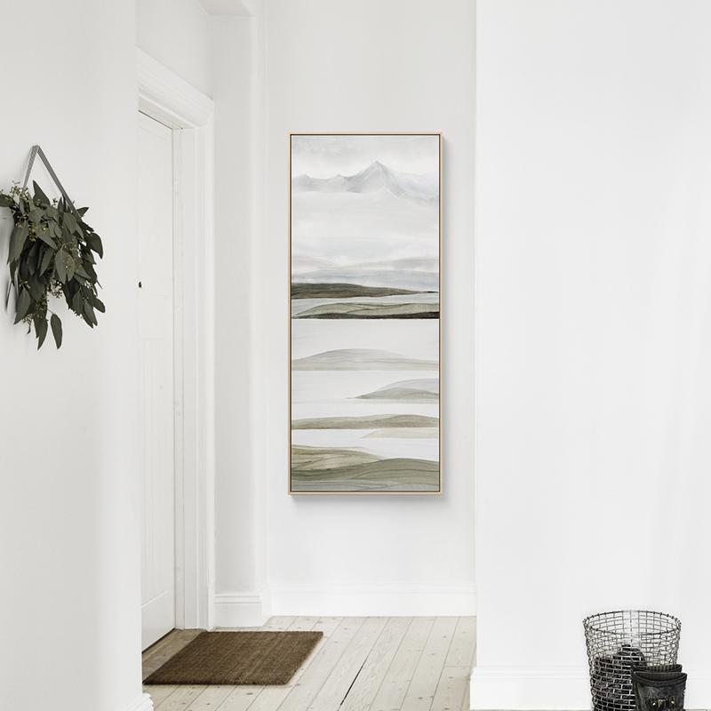 仟象映画  现代抽象客厅装饰画三联画沙发背景简约玄关画竖版酒店
