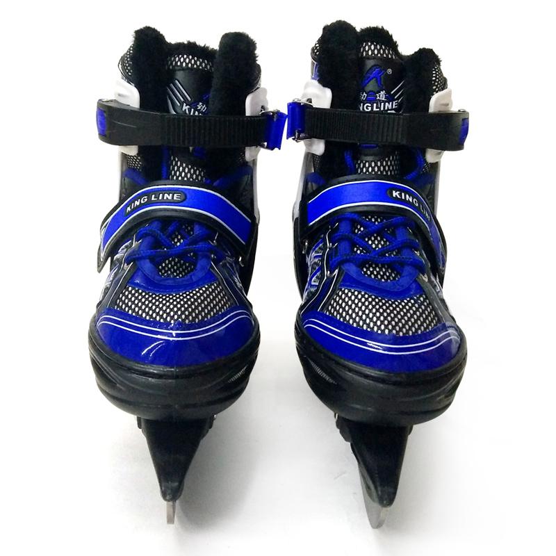 2017劲道新品冰刀鞋儿童可调滑冰鞋球刀鞋606H中小学生冰上课用