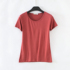 Pure color round neck T-shirt women's summer short-sleeved modal top T-shirt large size loose wild Slim black and white bottoming shirt