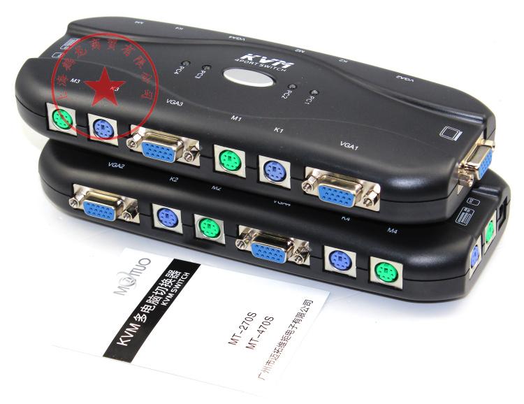 多电脑共享器 出 1 进 4 2 PS 口手动 4 切换器 KVM 470S MT 迈拓维矩