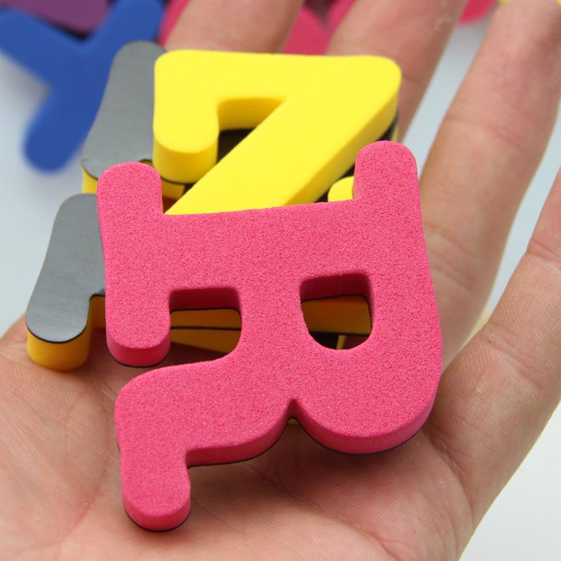 包邮磁性英文数字字母拼音白板黑板磁性贴冰箱贴益智玩具早教磁扣