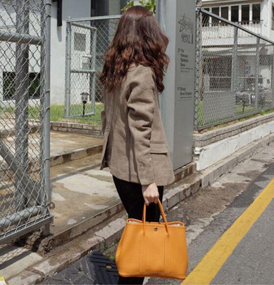 百搭 ol 春夏亚麻简约西装外套女士长袖显瘦修身短款文艺风上衣薄款