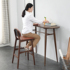 Solid wood bar table home family window modern bar partition cabinet kitchen dining table one Nordic high-leg table and chair