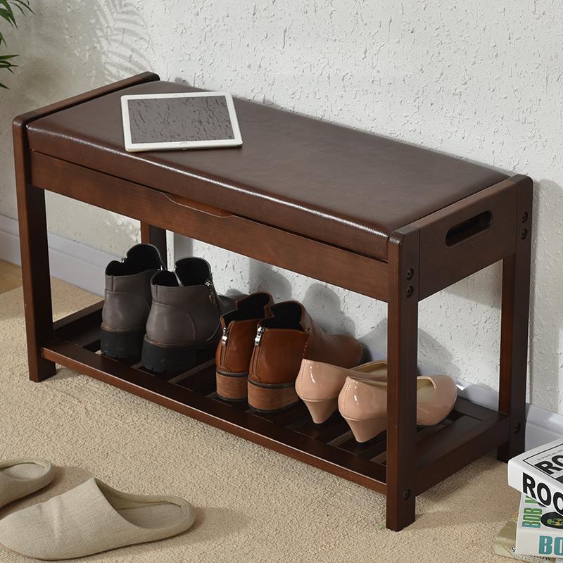 简约实木换鞋凳门口休息储物凳时尚创意欧式长条多功能穿鞋凳鞋柜