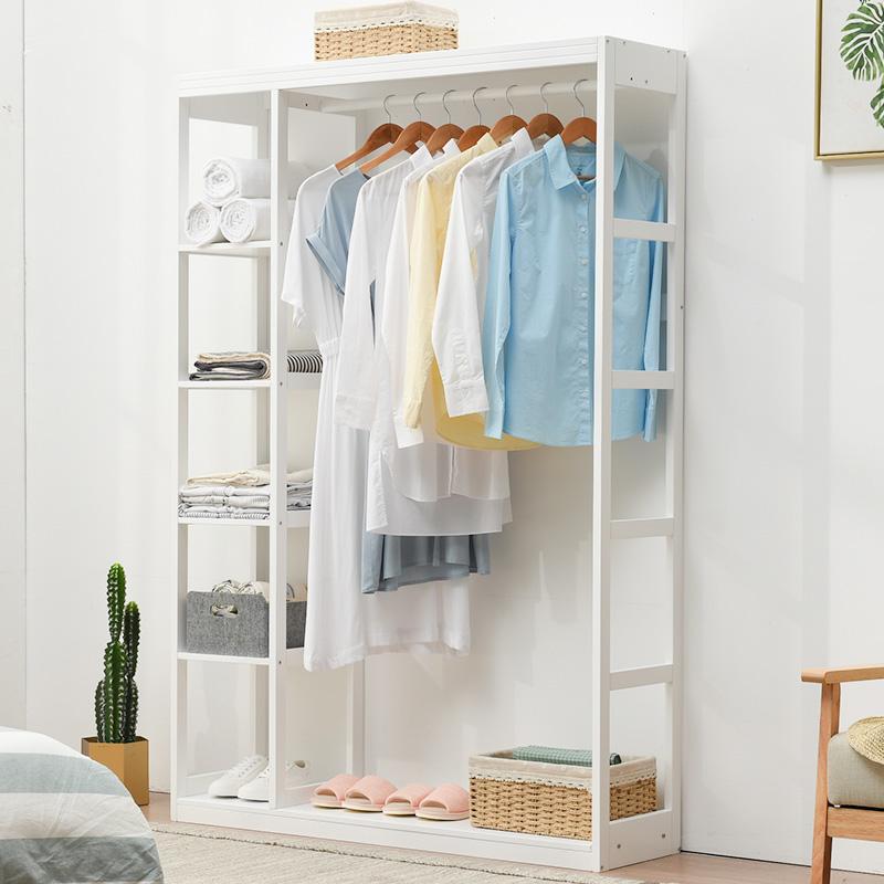 简约现代实木衣柜经济型卧室省空间衣橱储物柜小户型松木简易衣柜
