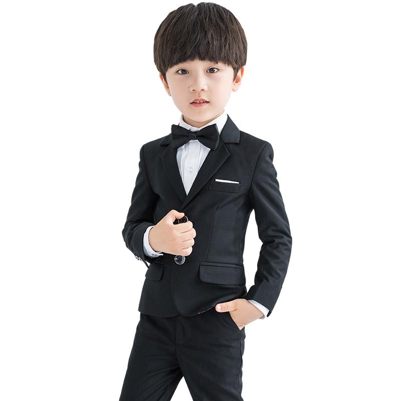 儿童西装套装三件套小孩主持人小西服花童礼服男男童钢琴演出服秋
