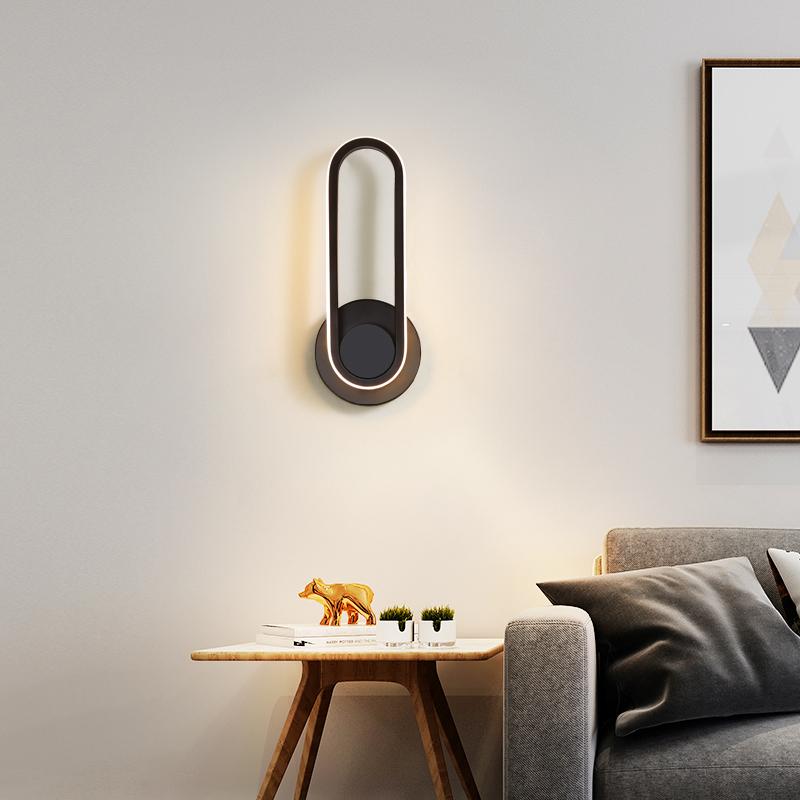 壁灯卧室床头灯北欧现代简约创意个姓网红楼梯过道客厅旋转墙壁灯