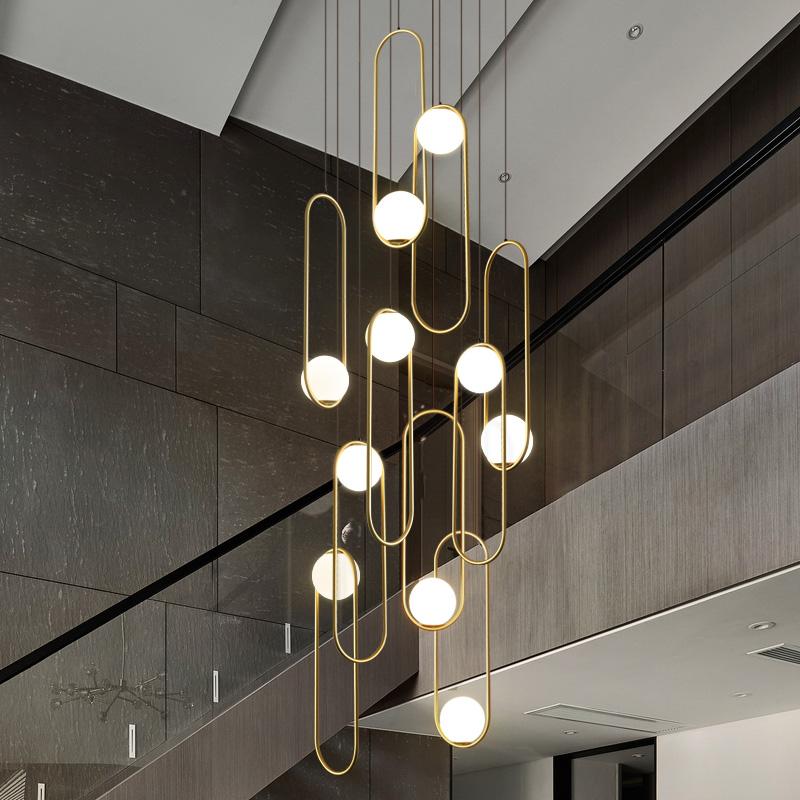 oft个性创意餐厅复式楼吊灯
