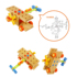 Wood play family children's disassembly and assembly toy boy assembling intelligence wood screw nut tool cart