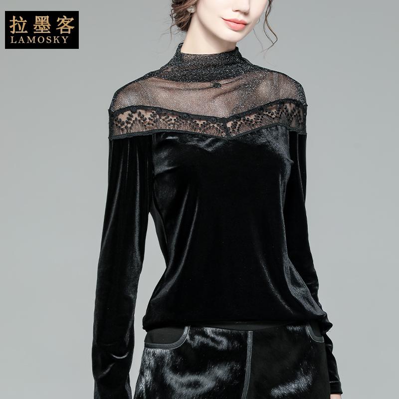 打底衫女长袖修身性感高领t恤