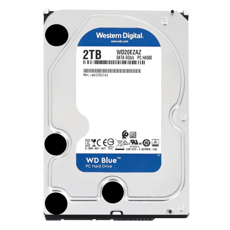 攀升 WD/西部数据 WD20EZRZ升WD20EZAZ  西数2T电脑存储机械硬盘