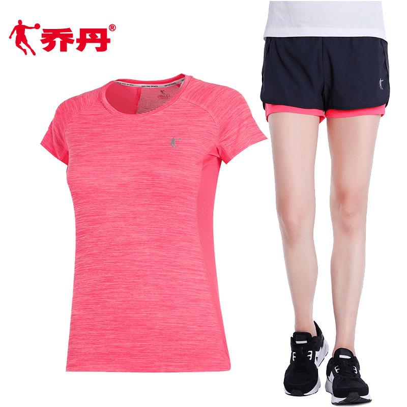 乔丹运动套装女2020春季新款休闲健身跑步速干女士时尚运动衣服装