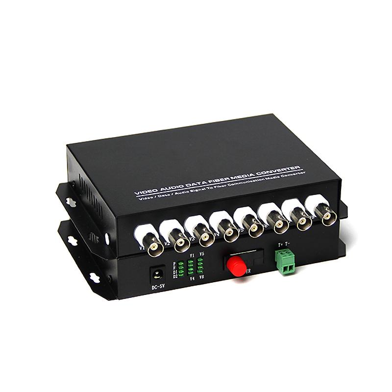 对 1 20KM 口 RS485FC 路反向数据 1 路视频光端机单模单纤带 8 汤湖