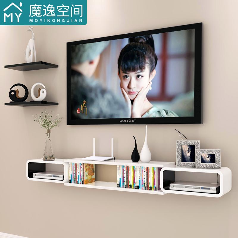 电视墙机顶盒背景置物架壁挂挂墙墙面墙壁创意隔板墙上客