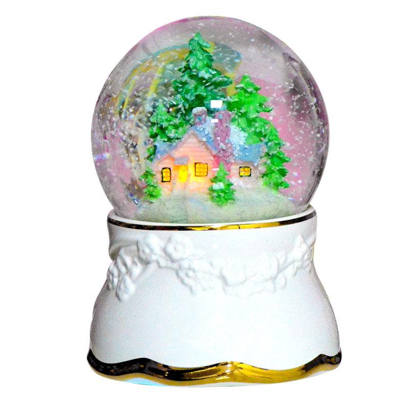 雪花水晶球音乐盒八音盒生日礼物女生送女孩儿童公主闺蜜天空之城
