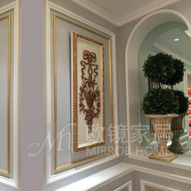 四件一套法式欧式装饰挂画 电视沙发背景墙过道走廊装饰画挂件