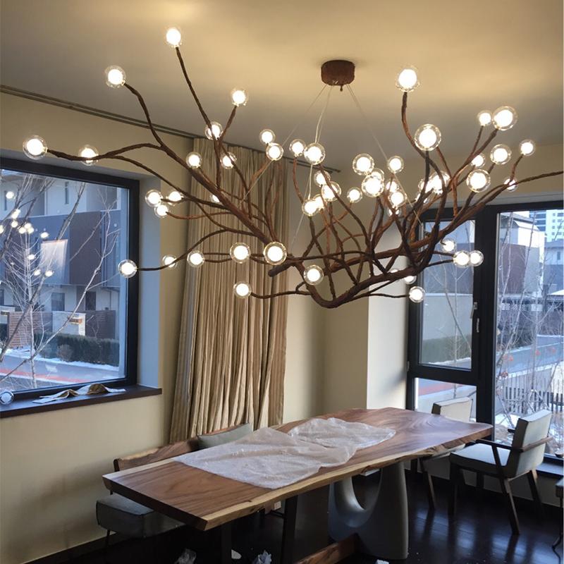 乡村创意个性树枝吊灯