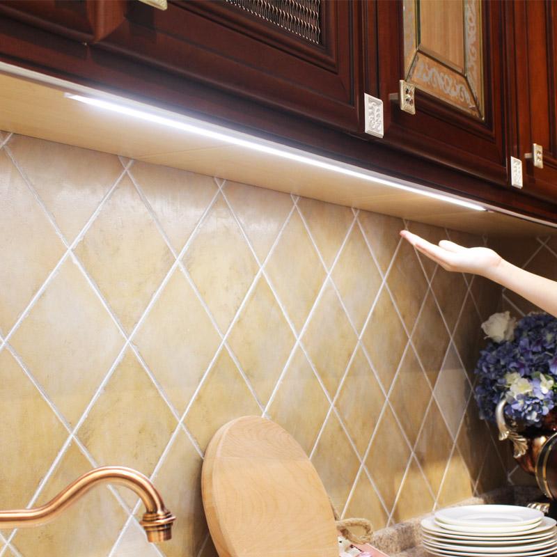 研匠 手扫感应橱柜灯led柜底灯带开关酒柜厨房吊柜鞋衣柜触摸灯条