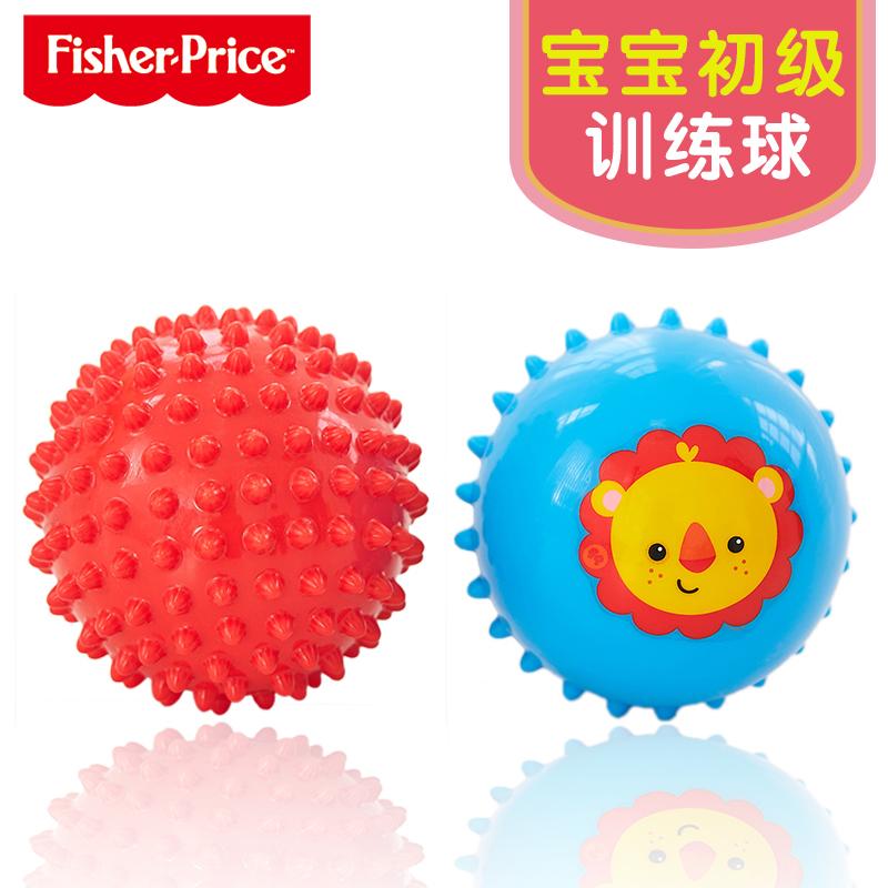 费雪婴儿手抓球摇铃球3-6-12个月宝宝捏响球小皮球儿童球类玩具