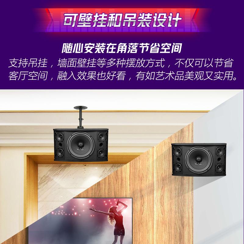 Yacare/雅桥 CS-450专业卡拉OK音响会议KTV家庭卡包音箱设备/只