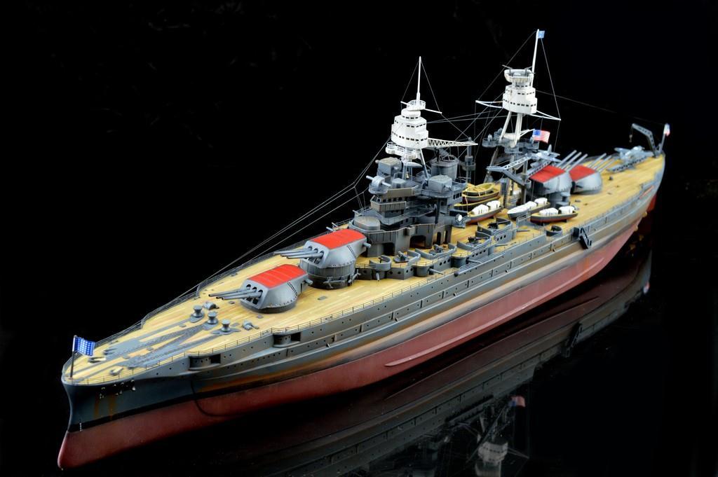 小号手拼装军事军舰模型 仿真1/700 美国战舰亚利桑那战列舰船模