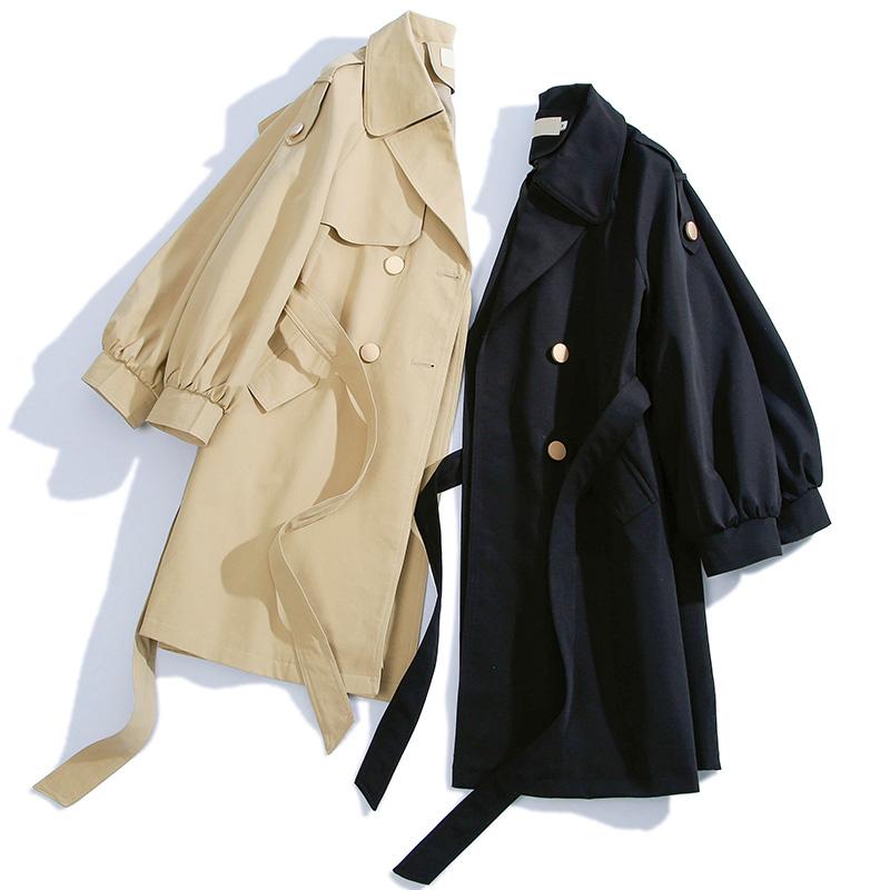 风衣女中长款小个子 春秋季新款韩版流行宽松休闲大衣薄款外套  2020