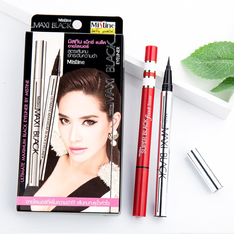泰國Mistine眼線筆防水不暈染持久極細軟頭初學者眼線液筆正品