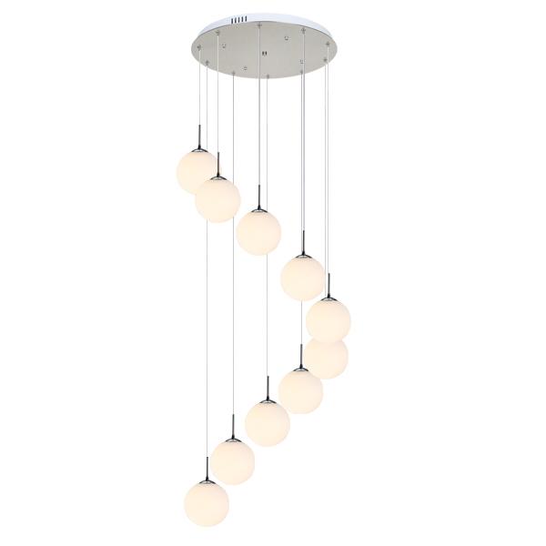 蔓普楼梯吊灯现代简约创意个姓圆球别墅吊灯复式旋转楼梯灯长吊灯