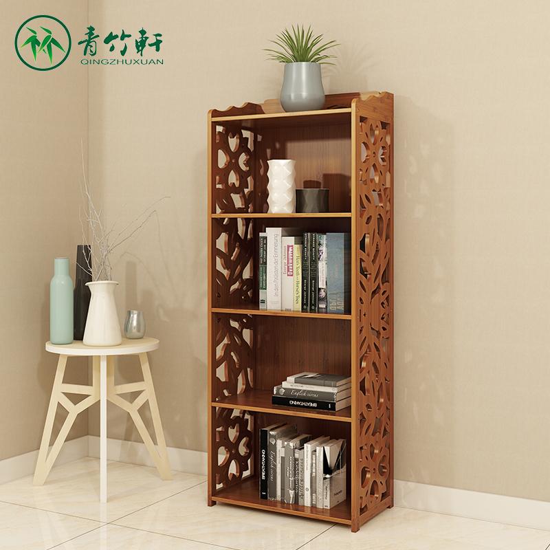 書架書櫃楠竹書櫥現代兒童仿古落地組合櫃置物櫃多層收納儲物櫃子