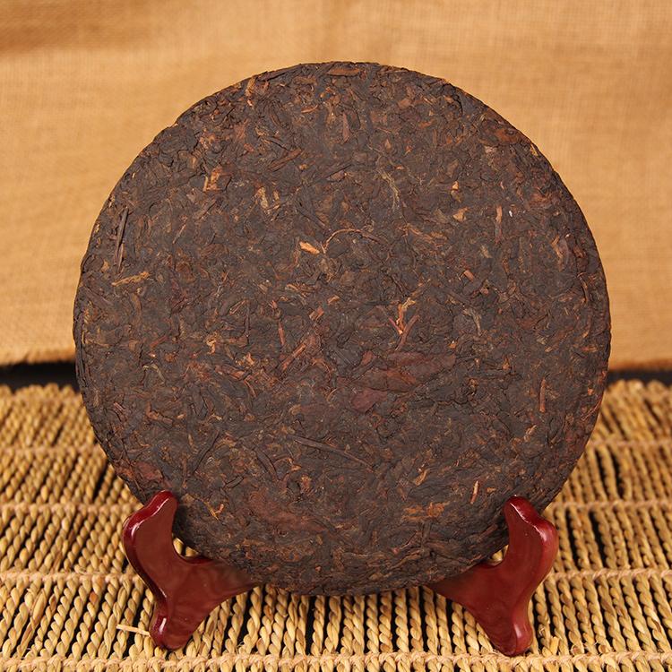 茶叶 357g 包邮云南普洱茶熟茶老普洱七子饼茶勐海干仓陈香饼