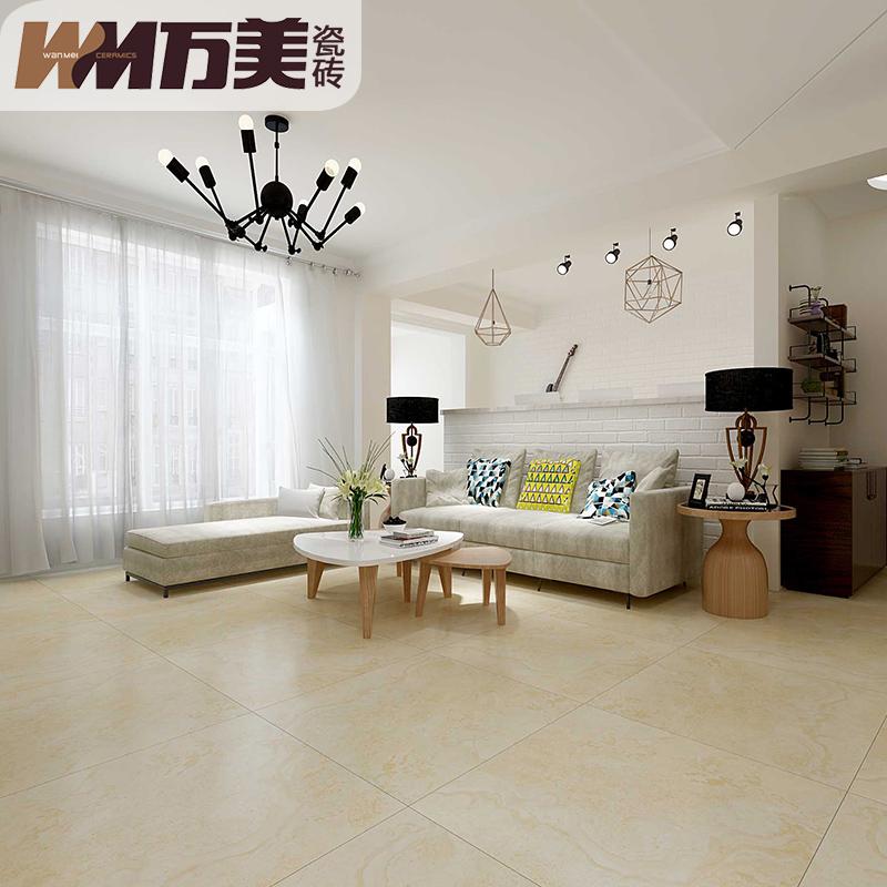 【柔光砖】万美瓷砖 客厅防滑地砖欧式全抛釉地板砖背景墙800X800