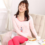 New step Qiuyi Qiuku cotton girl thermal underwear suit thin section cotton sweater Slim bottoming youth