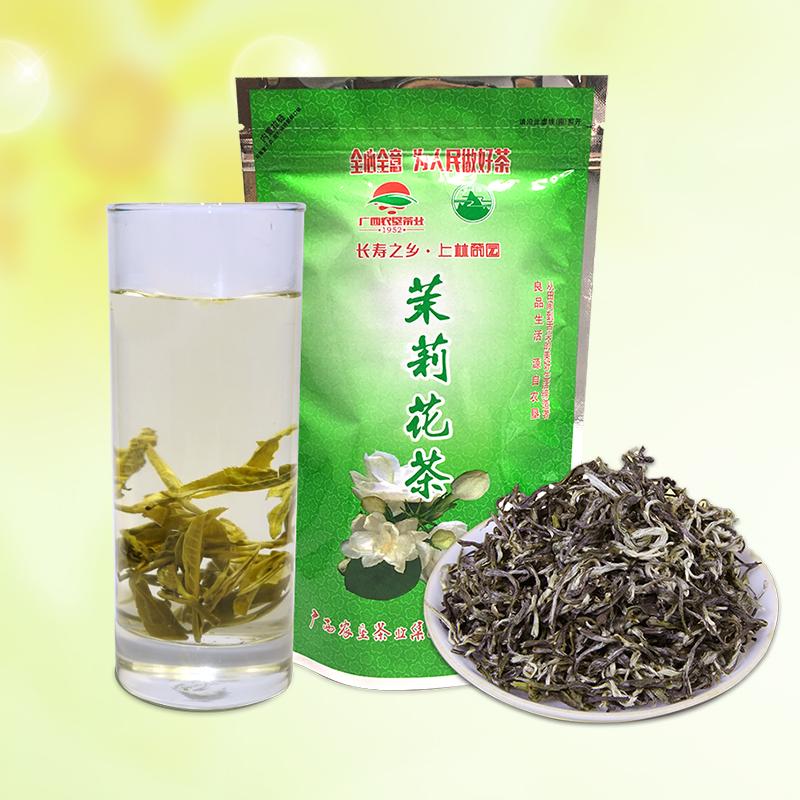 茉莉飘雪茶叶茉莉花茶2019新茶浓香型茉莉花茶散装100g广西上林茶