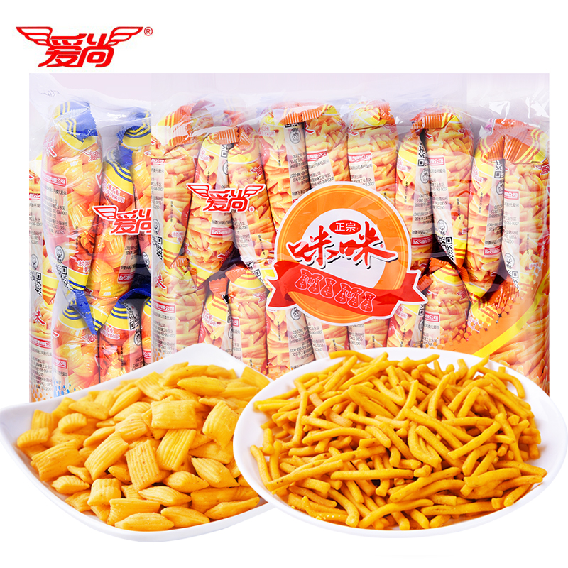 咪咪虾条大包装蟹味粒成人款好吃的零食小吃休闲食品大礼包整箱装