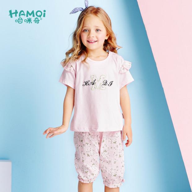 哈咪奇女宝宝套装夏季1-2婴儿衣服夏天小儿童短袖短裤3岁女童夏装