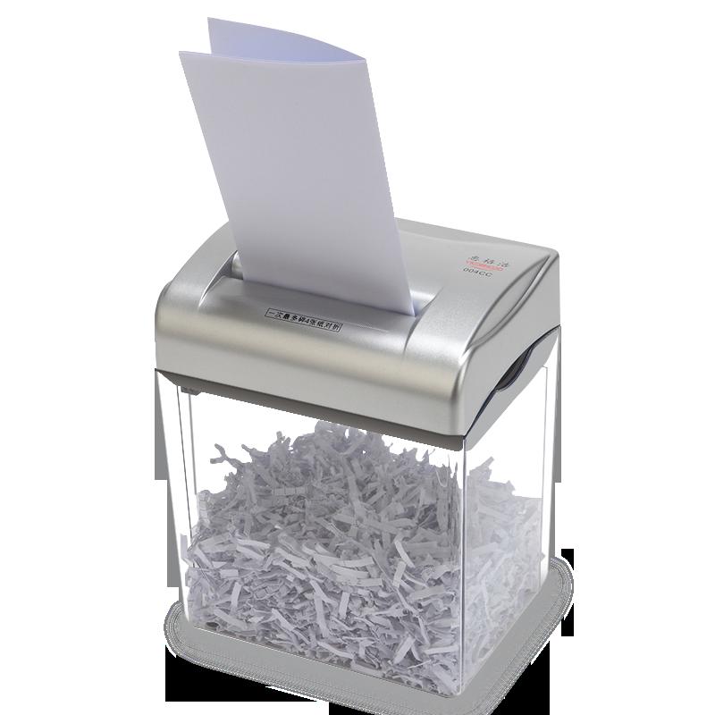 惠格浩004CC桌面型迷你碎纸机电动办公文件废纸粉碎机小型家用便携粹纸机碎照片大功率强力快速碎卡机4级保密