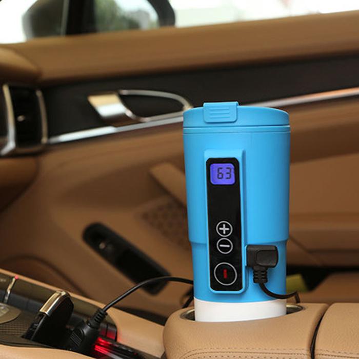 车载电热水杯热水器车用烧水壶车载加热水杯热水杯智能加热恒温