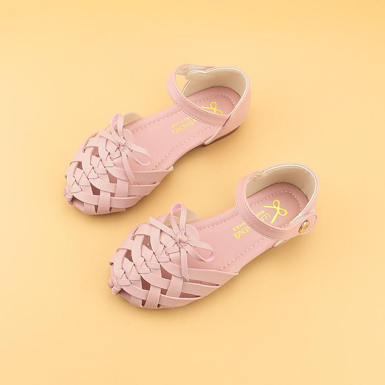 特价夏季新款女童凉鞋学生新款中大童沙滩鞋儿童韩版包头罗马鞋潮