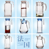 Lemei Ya large-capacity glass jug cold kettle bar pot jug octagonal pot household cooler juice pot beverage pot