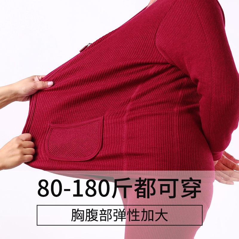 中老年保暖内衣女开衫加厚加绒冬季大码棉衣老人妈妈装热能上衣