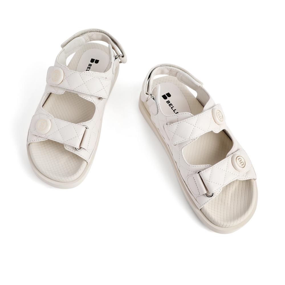 预 3RJ33BL1 夏新商场同款女优雅小香风羊皮革凉鞋 2021 百丽 BELLE