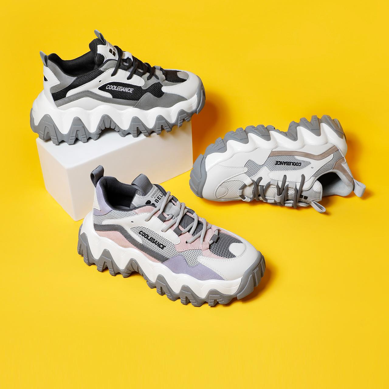 20702AM0 春季新品商场同款休闲鞋 2020 聚百丽剑齿小虎牙老爹鞋女
