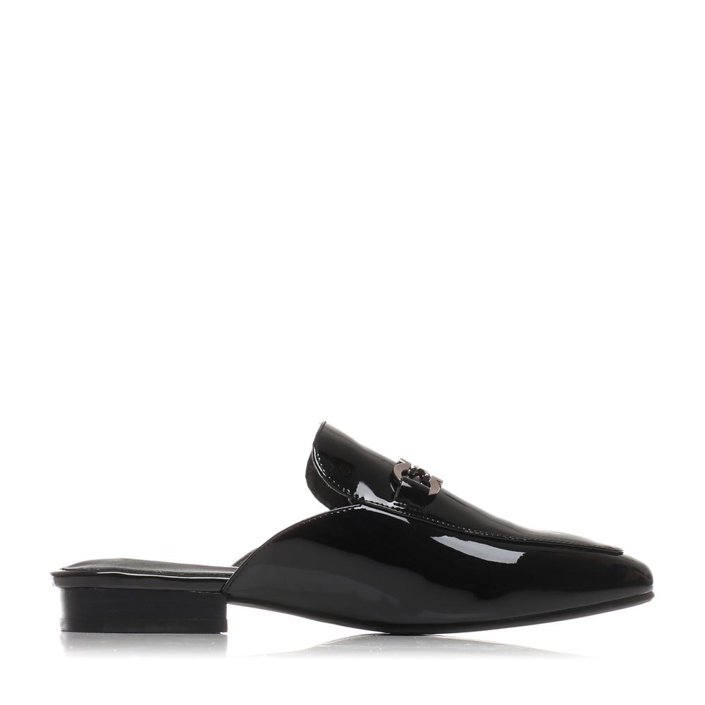 BNUA3AH7 百丽穆勒鞋漆皮金属扣休闲时尚平跟女凉拖鞋 Belle