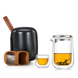 Shang Ming Tea Set portable glass travel packages Quik cup pot two cups of high-temperature outdoor tourism teapot